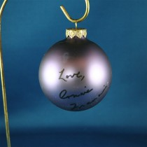 FFF Charities - Connie Francis - purple Christmas ornament #6
