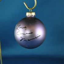 FFF Charities - Connie Francis - purple Christmas ornament #7