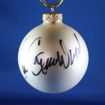 FFF Charities - Lee Greenwood - white Christmas ornament #1