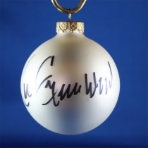 FFF Charities - Lee Greenwood - white Christmas ornament #2