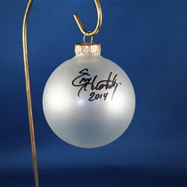 FFF Charities - Eric Heatherly - clear frosted Christmas ornament #2