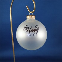 FFF Charities - Eric Heatherly - clear frosted Christmas ornament #3