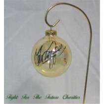 FFF Charities - George Jones - Clear Gold Christmas Ornament #3