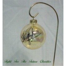 FFF Charities - George Jones - Clear Gold Christmas Ornament #4