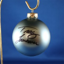 FFF Charities - Tracy Lawrence - blue Christmas ornament #12