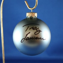 FFF Charities - Tracy Lawrence - blue Christmas ornament #15