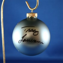 FFF Charities - Tracy Lawrence - blue Christmas ornament #16