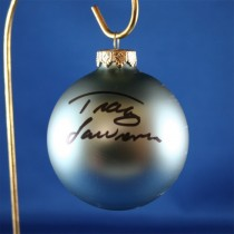 FFF Charities - Tracy Lawrence - blue Christmas ornament #17