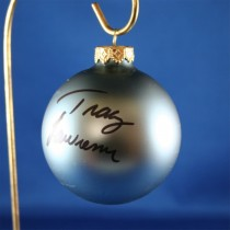 FFF Charities - Tracy Lawrence - blue Christmas ornament #18