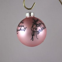 FFF Charities - Barbara Mandrell & The Mandrell Sisters - autographed pink Christmas ornament #6