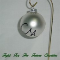 FFF Charities - Craig Morgan - silver Christmas ornament #4