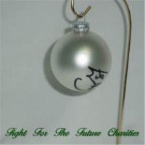 FFF Charities - Craig Morgan - silver Christmas ornament #8