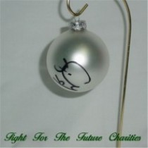 FFF Charities - Craig Morgan - silver Christmas ornament #9