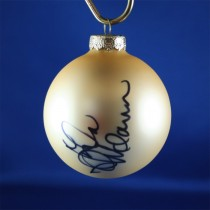 FFF Charities - Lila McCann - gold Christmas ornament #1