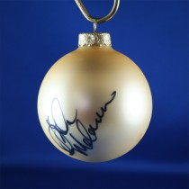FFF Charities - Lila McCann - gold Christmas ornament #2