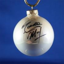 FFF Charities - Eddie Money - white Christmas ornament #2
