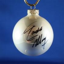 FFF Charities - Eddie Money - white Christmas ornament #6