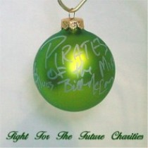 FFF Charities - Pirates of the Mississippi - frosted green ornament #2