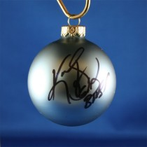 FFF Charities - Kevin Sharp - blue Christmas ornament #2