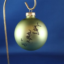 FFF Charities - Dr. Ralph Stanley & Ralph II - green Christmas ornament #2
