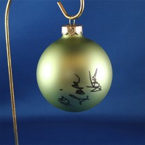 FFF Charities - Dr. Ralph Stanley & Ralph II - green Christmas ornament #4