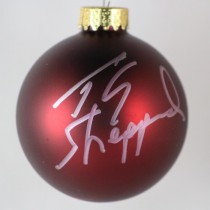 FFF Charities - TG Sheppard - autographed red Christmas ornament #2
