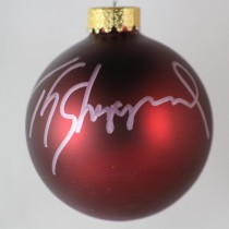 FFF Charities - TG Sheppard - autographed red Christmas ornament #4