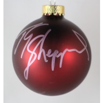 FFF Charities - TG Sheppard - autographed red Christmas ornament #6
