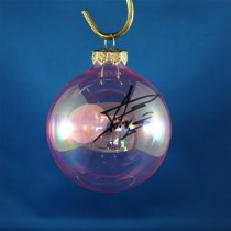 FFF Charities - Aaron Tippin - clear pink Christmas ornament #5