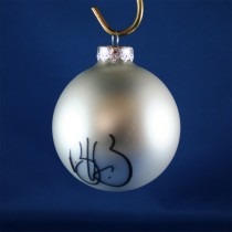 FFF Charities - Trick Pony - Keith Burns - silver Christmas ornament #1