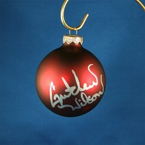 FFF Charities - Gretchen Wilson - red Christmas ornament #11