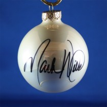 FFF Charities - Mark Wills - white Christmas ornament #3
