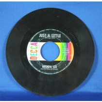 "Brenda Lee - 45 LP ""Just A Little"" and ""I Want To Be Wanted"""