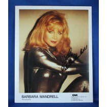 Barbara Mandrell - autographed 8x10 color silver jump suit