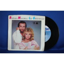 "Barbara Mandrell - 45 LP with Lee Greenwood ""To Me"" & ""We Were Meant For Each Other"""