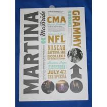 Martina McBride - 2011 CMA promo bi-fold card