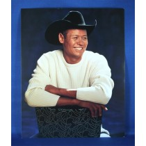 Neal McCoy - 8x10 color photograph sitting on black chair