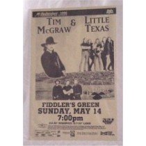 Various Artists - concert bill Tim McGraw Little Texas Blackhawk