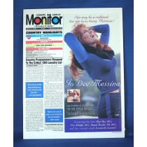 "Jo Dee Messina - promo mini stand-up ""Monitor"" magazine card"