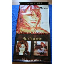"Jo Dee Messina -  promo vinyl poster Disc Jockey ""Burn"""