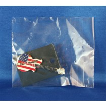Louise Mandrell - lapel pin American flag guitar