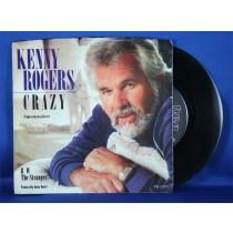 "Kenny Rogers - 45 LP ""Crazy"" & ""The Stranger"""