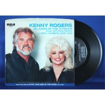 """Kenny Rogers - 45 LP w/ Dolly Parton """"Islands In The Stream"""" & """"I Will Always Love You"""" (photo sleeve)"""