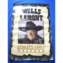 "George Strait - promo poster ""Wells Lamont"""