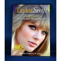 "Taylor Swift - book ""Taylor Swift Country Music's American Sweetheart"" with 6 8x10 photos"