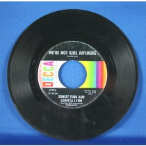 """Ernest Tubb - 45 LP w/ Loretta Lynn """"Our Hearts Are Holding Hands"""" & """"We're Not Kids Anymore"""""""