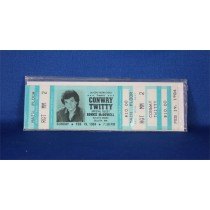 Conway Twitty - unused concert ticket