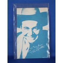 Tex Ritter - 1950's movie card