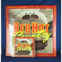 "Various Artists - promo flat ""Red Hot Country"" w/ cd"