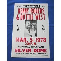 "Various Artists - concert bill ""Kenny Rogers Dottie West"""